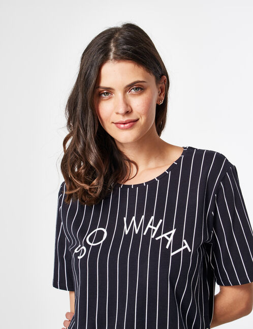 Black and white striped T-shirt