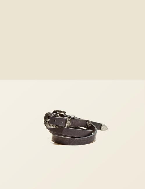 ceinture double boucle noire