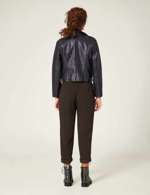 Black loose-fit trousers