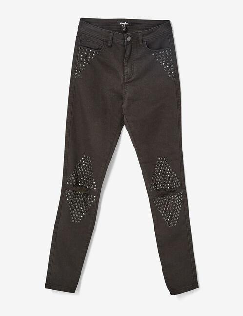 pantalon avec clous noir