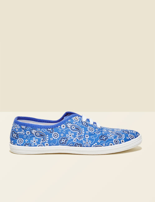 Blue canvas trainers