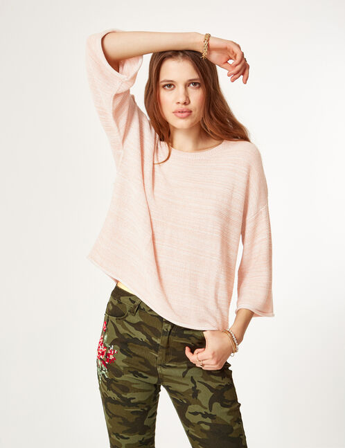 pull fin rose clair