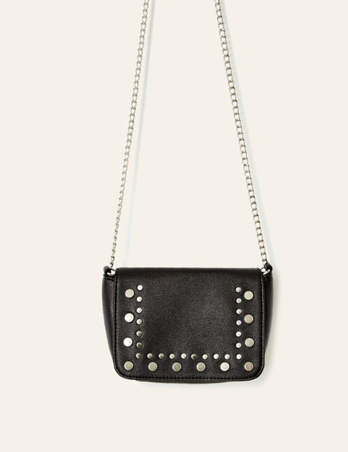 Small black studded bag