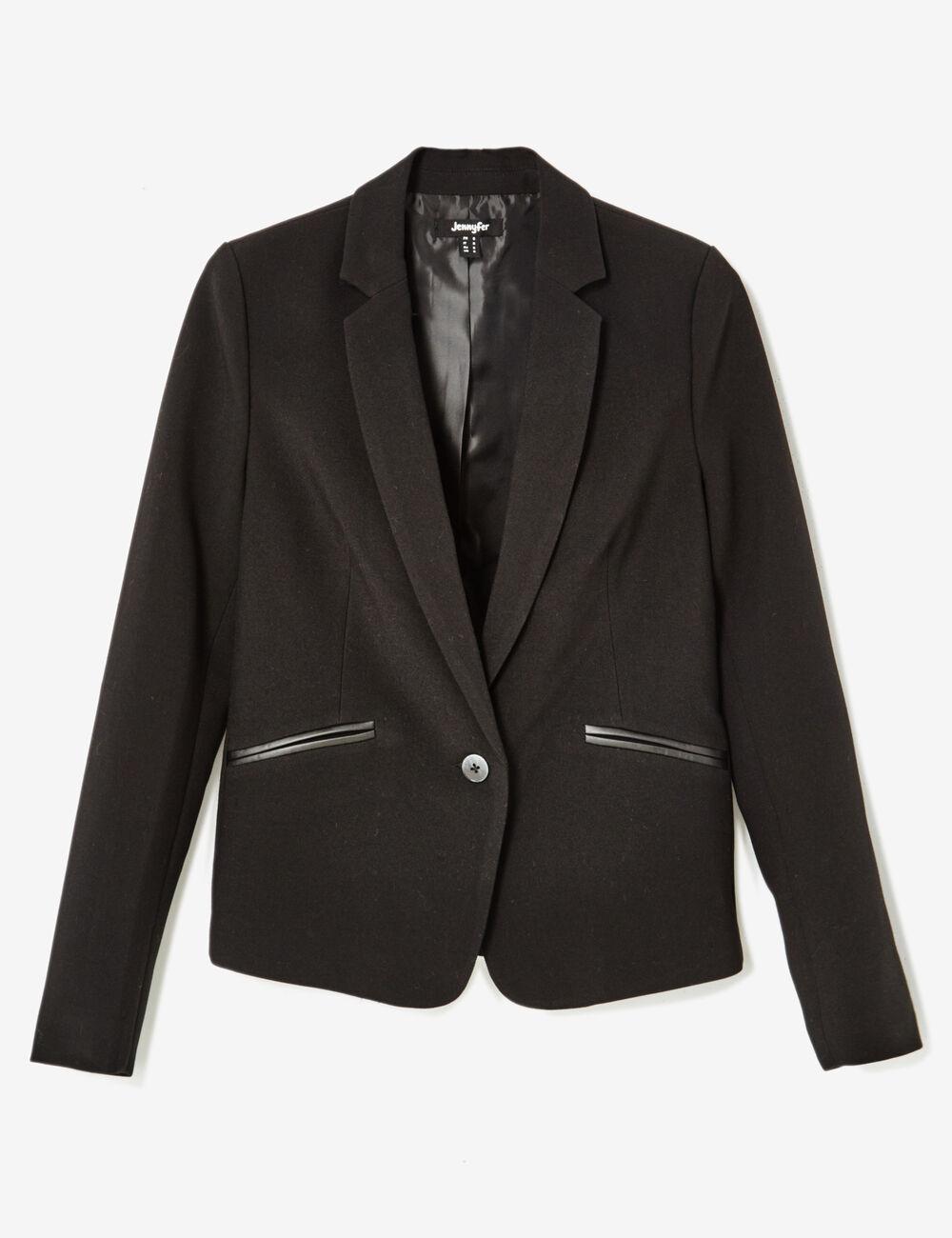 veste blazer noire femme jennyfer. Black Bedroom Furniture Sets. Home Design Ideas