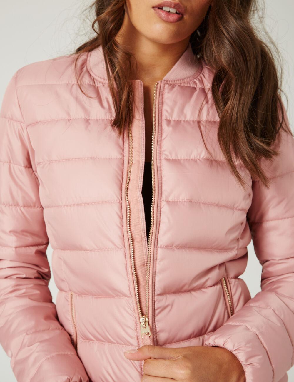 Light pink lightweight padded jacket woman • Jennyfer