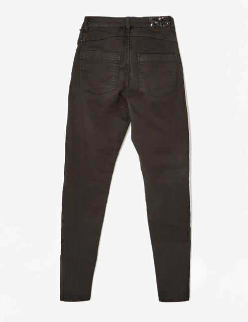 pantalon skinny avec sequins noir