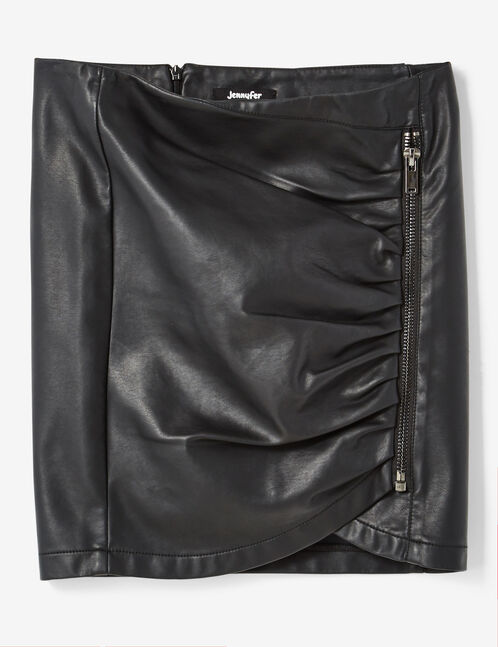 Black skirt with zip detail