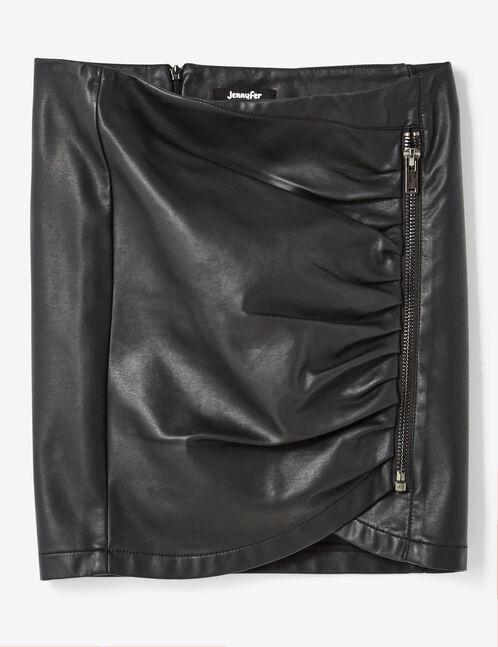 jupe zippée noire