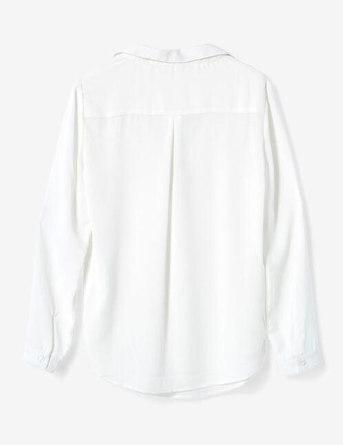 blouse en mousseline écrue
