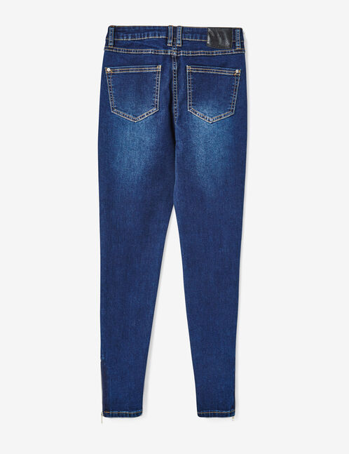 jean super skinny taille haute brut