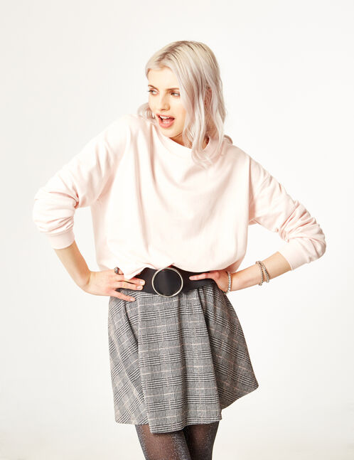 Grey glen check skirt