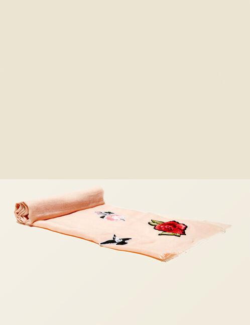 foulards à patchs rose clair