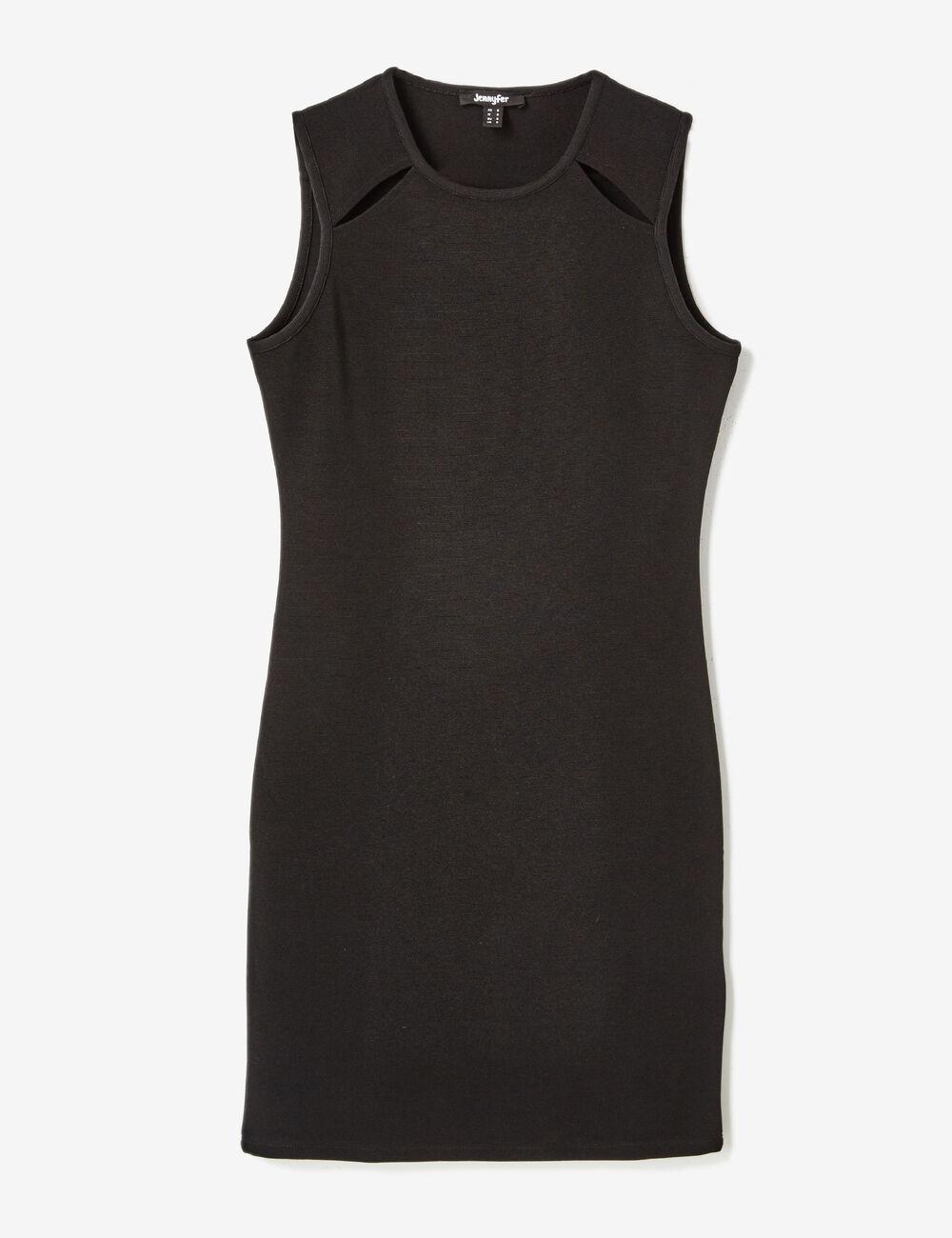 robe ajustée avec ouvertures noire