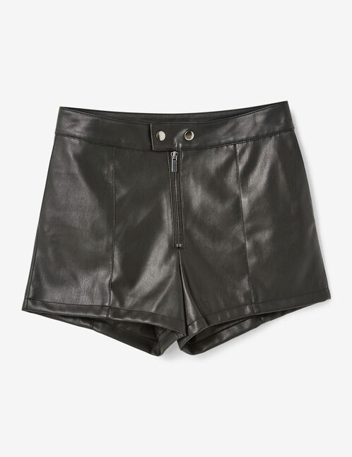 short en simili noir