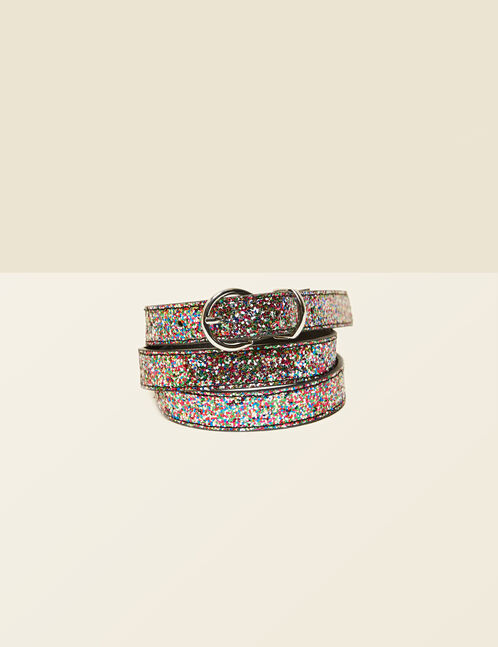 Sparkly multi-coloured belt