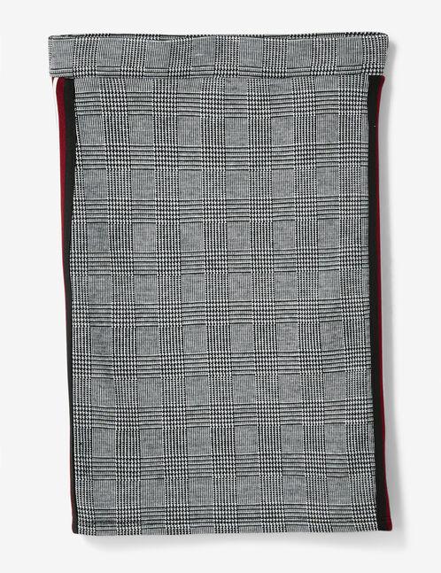 Grey glen check tube skirt