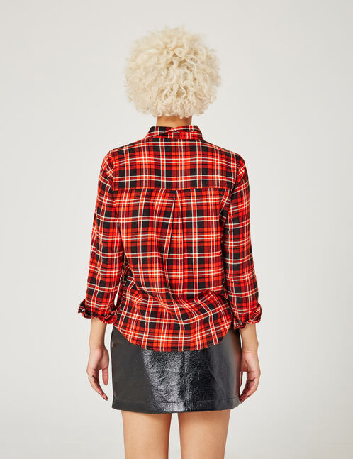Red and black checked shirt