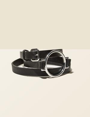 ceinture avec boucle déco noire