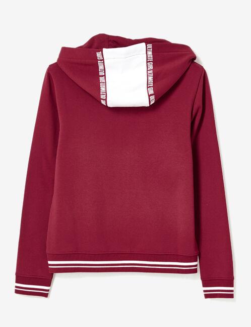 Burgundy zip-up hoodie