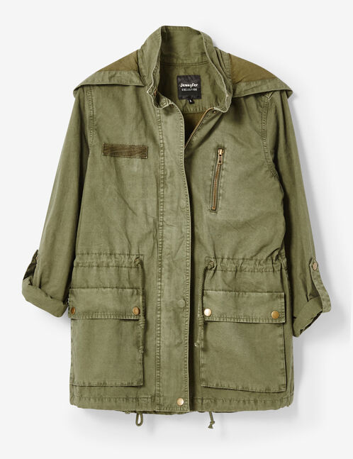 Khaki lightweight jacket