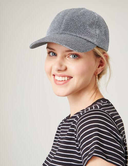 Silver sparkly cap