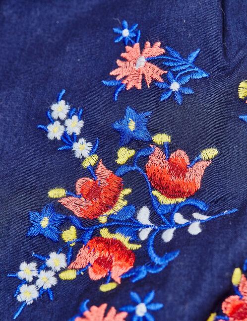blouse brodée bleu marine