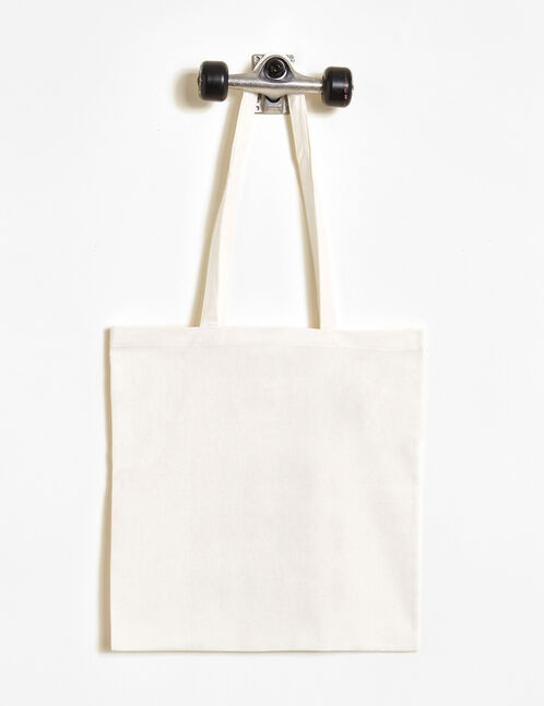 White cactus print tote bag