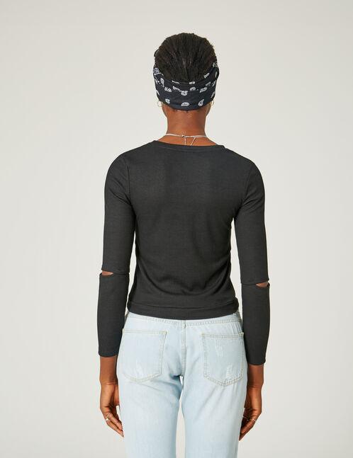Black top with eyelet detail