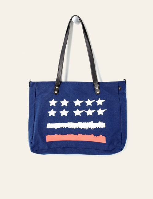 sac à main esprit américain bleu marine