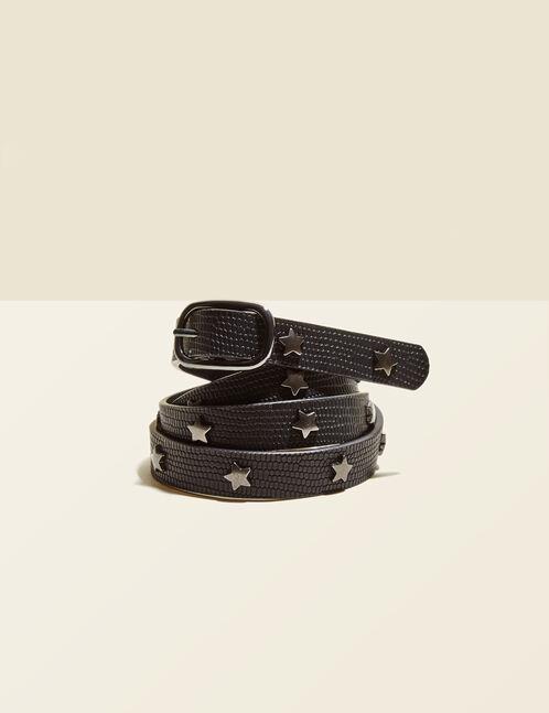 ceinture avec clous étoiles noire