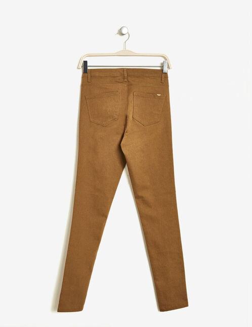 pantalon super skinny ocre
