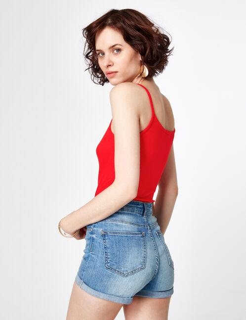 body zippé rouge