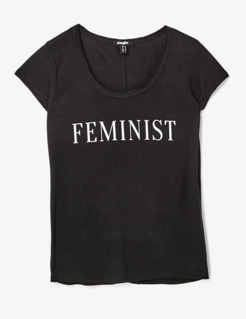 """Black """"feminist"""" T-shirt"""