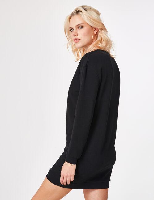 robe sweat à message noire