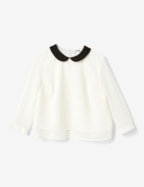 Cream Peter Pan collar blouse