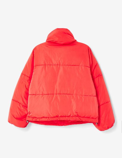 doudoune oversize rouge
