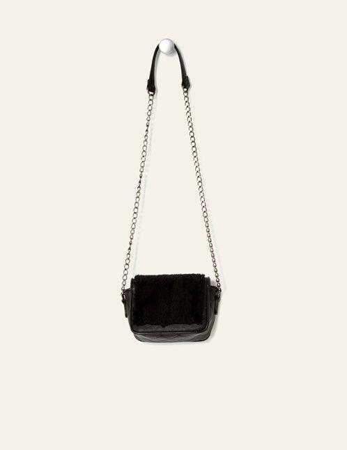 petit sac bi-matière noir