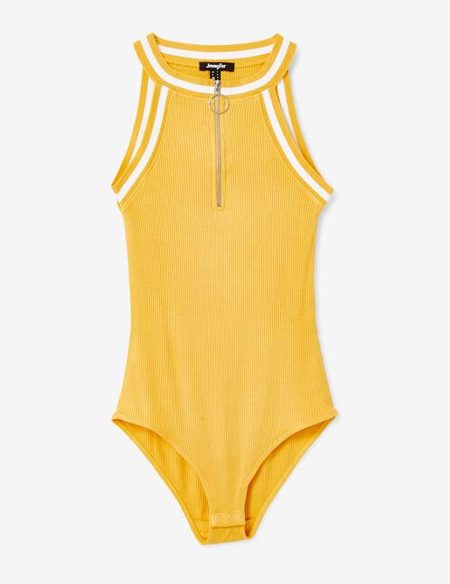 body zippé jaune