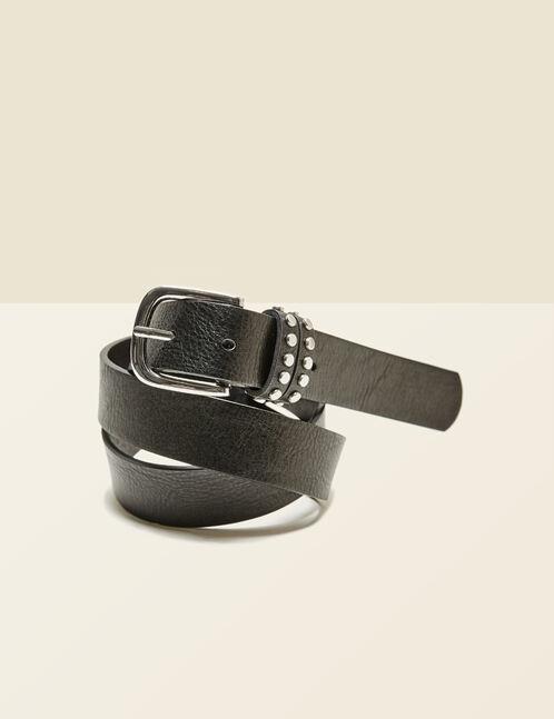 ceinture détails cloutés noire