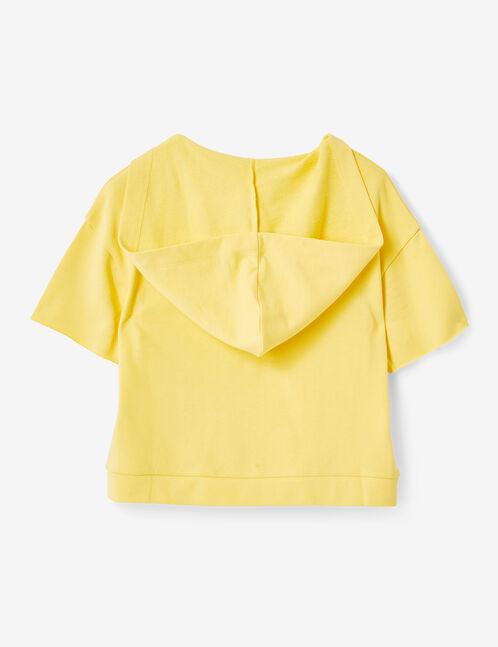 sweat  à message jaune