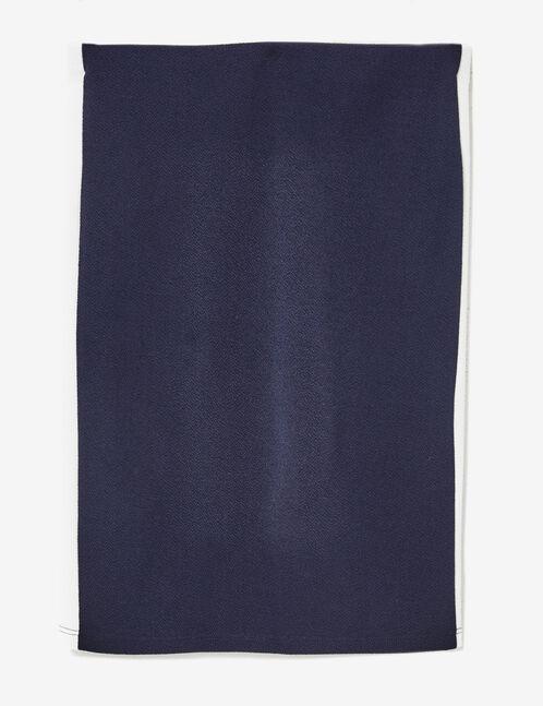 Jupe tube texturée bleu