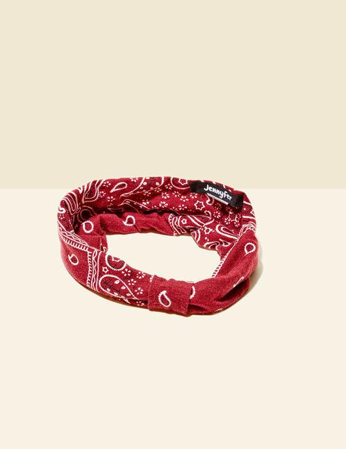 headband effet bandana bordeaux