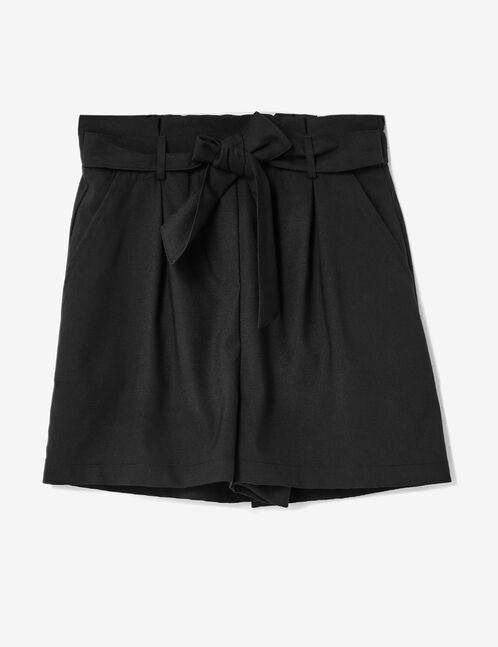 Black draped shorts
