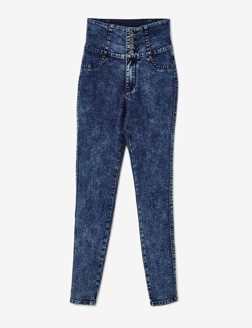 jean super taille haute bleu foncé