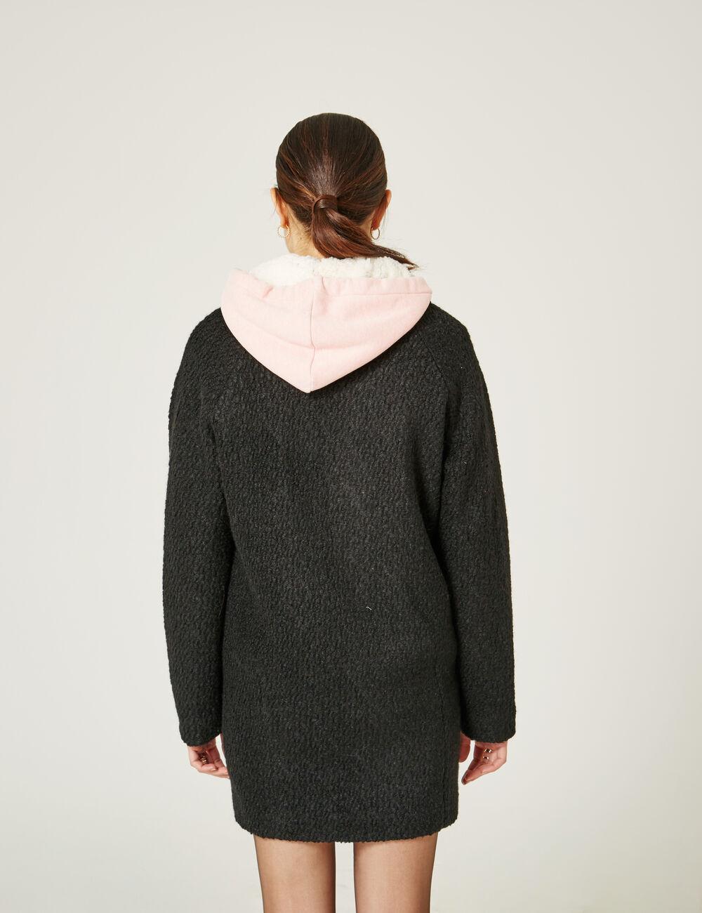 manteau en laine noir femme jennyfer. Black Bedroom Furniture Sets. Home Design Ideas