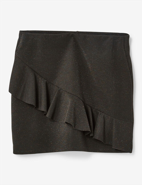 Black skirt with frill detail