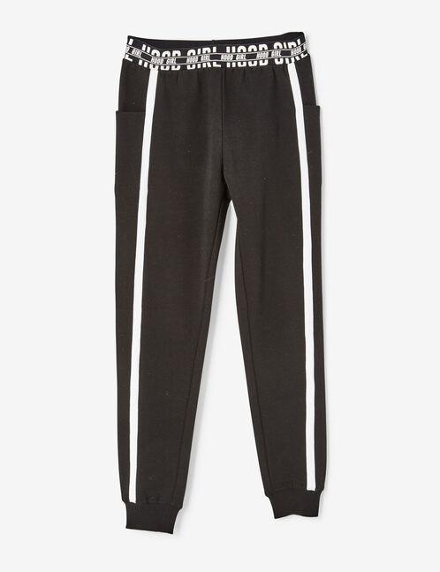 jogging hood girl noir