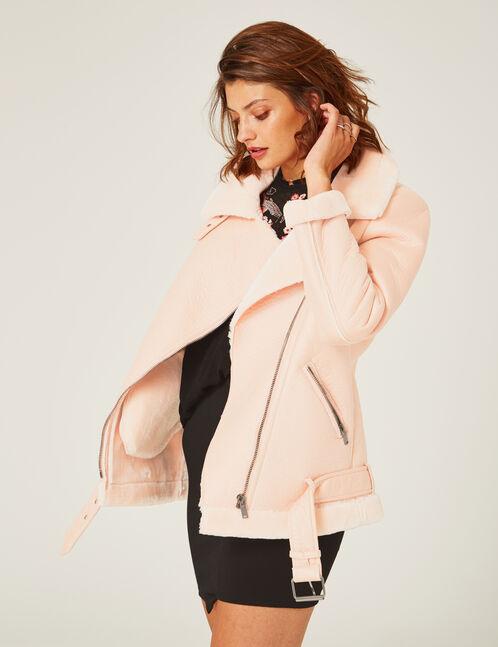 Light pink bomber jacket
