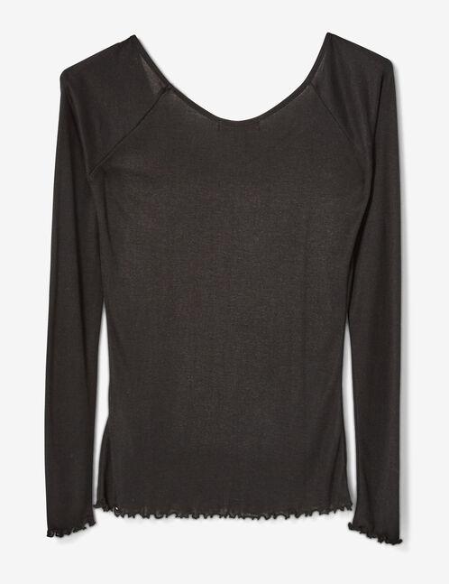 tee-shirt basic décolleté noir