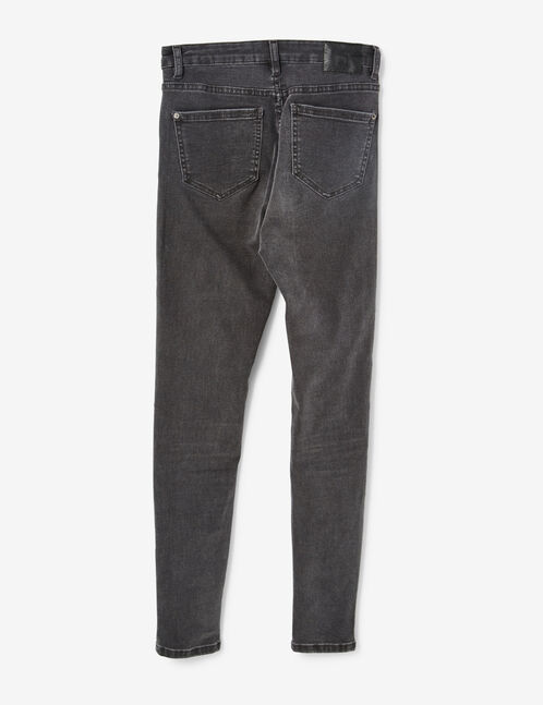 jean skinny taille haute gris anthracite